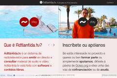Página web de Adtlántida.tv