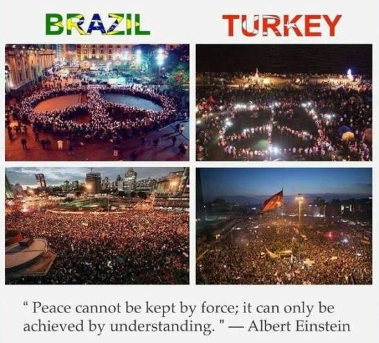La paz no se puede conseguir por la fuerza, sólo se puede lograr con el entendimiento.