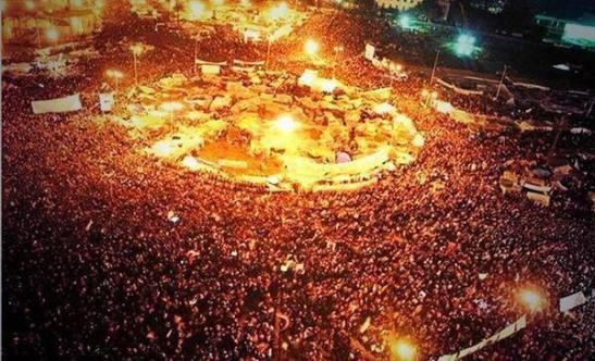 La manifestación más grande de la historia de Egipto.